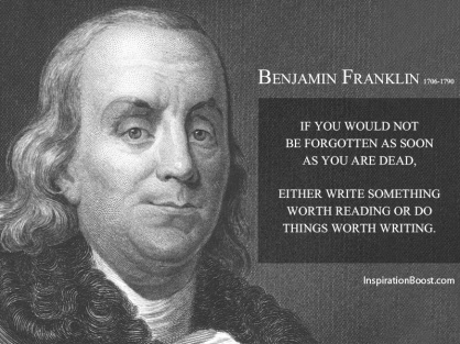 Benjamin-Franklin-Not Be Forgotten- Copy